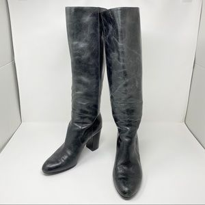 Isola Black Leather Riding Boots